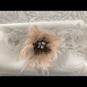 Lovely Rhinestone and Feather pin